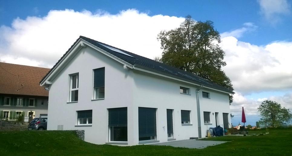 <p>Prévonloup - Votre maison pour 1&#039;800.- mois : 4.5 pièces avec séjour de 50 m2 !</p>